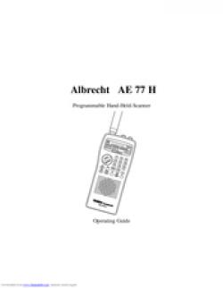 Albrecht AE 77 H Radio